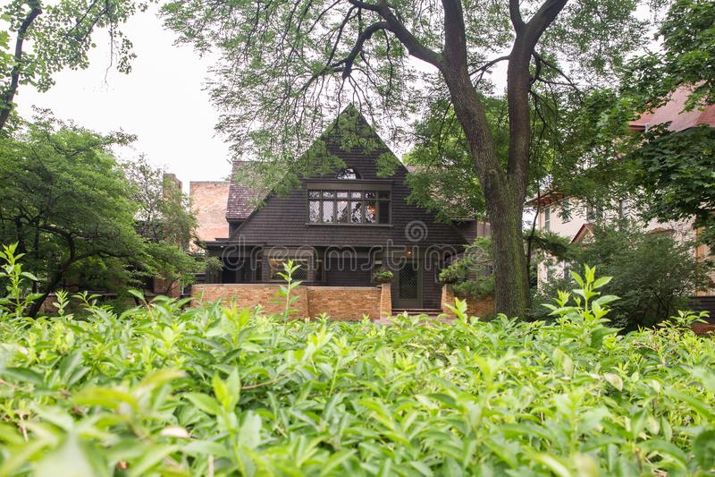 Frank Lloyd Wright Home y estudio imágenes de archivo libres de regalías