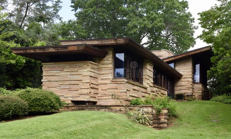 Frank Lloyd Wright House in Tennessee stock afbeeldingen