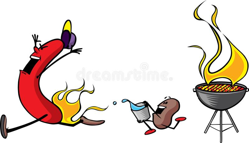 Download Frank n Beans Picnic stock vector. Image of wiener, cookout - 10795560