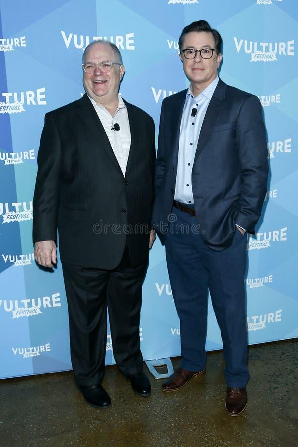 Frank Rich, Stephen Colbert image libre de droits