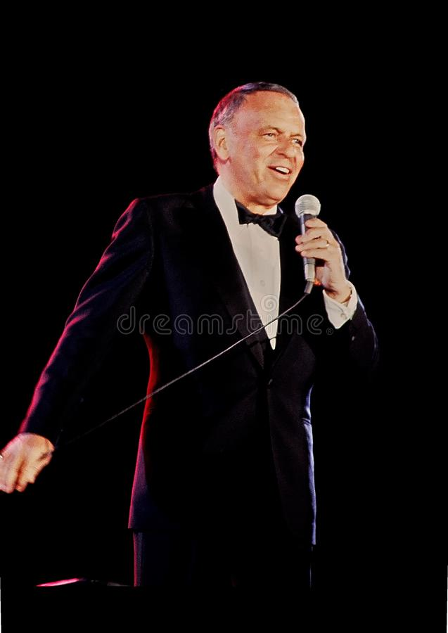 Frank Sinatra photographie stock