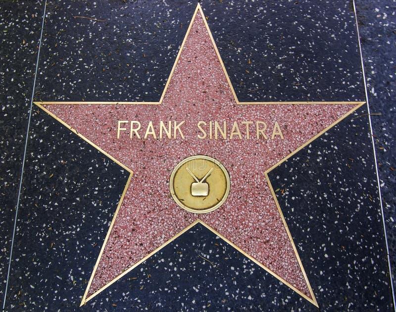 Frank Sinatra gwiazda na spacerze sława obrazy royalty free