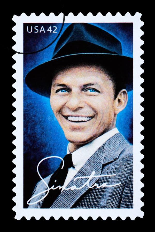 Frank Sinatra Postage Stamp royaltyfria bilder
