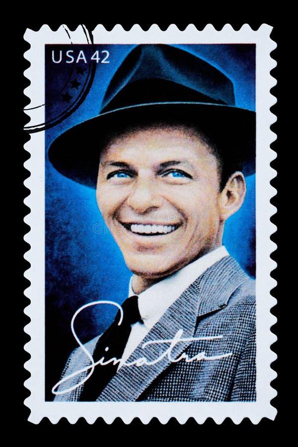 Frank Sinatra Postage Stamp lizenzfreie stockfotografie