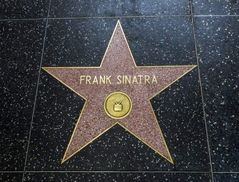 Frank Sinatra-` s Stern, Hollywood-Weg des Ruhmes - 11. August 2017 - Hollywood Boulevard, Los Angeles, Kalifornien, CA lizenzfreie stockfotos