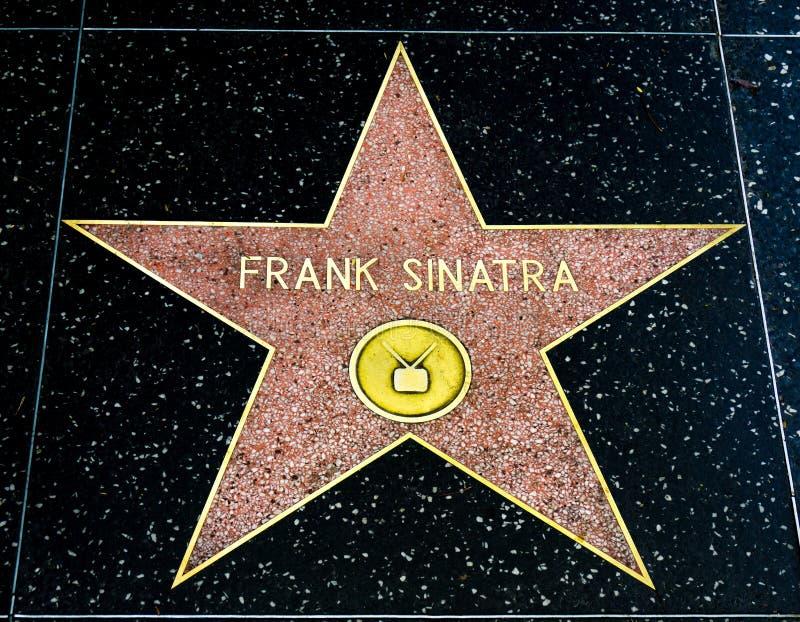 Frank Sinatra Star sur la promenade de Hollywood de la renommée image libre de droits