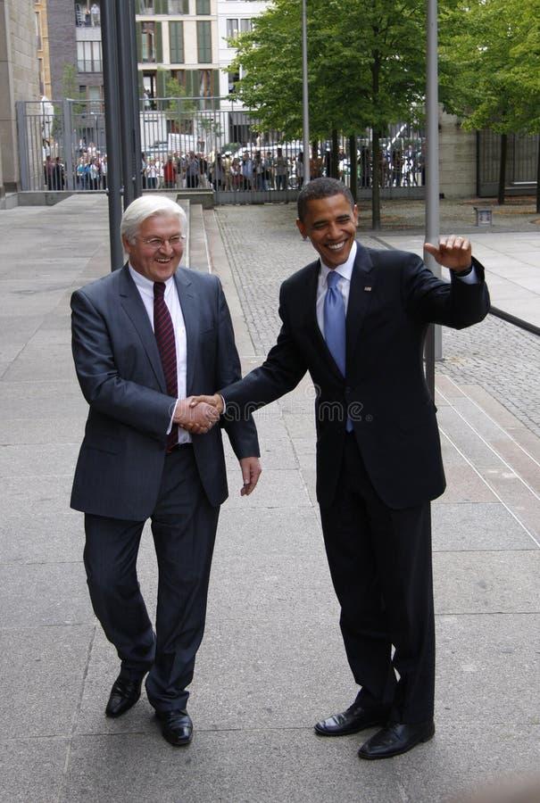 Frank-Walter Steinmeier, Barack Obama imagenes de archivo