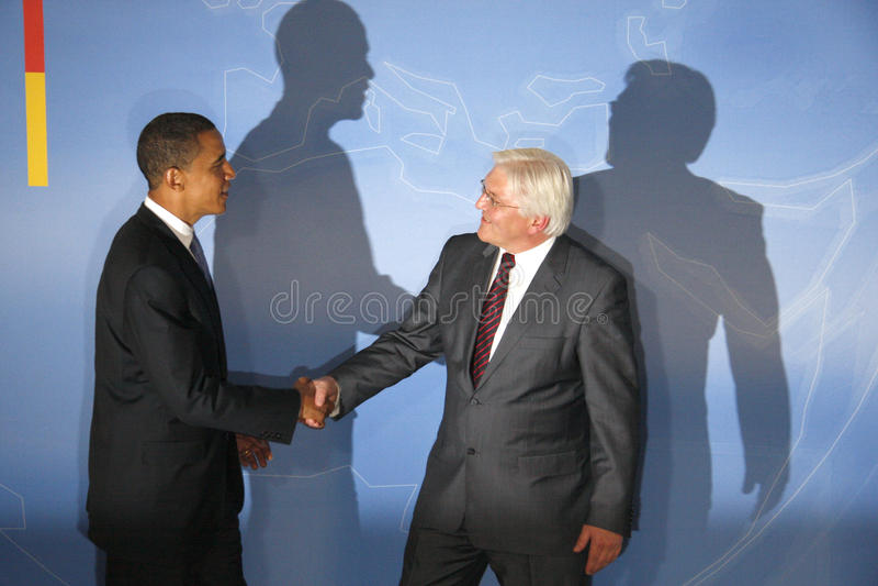 Frank-Walter Steinmeier, Barack Obama imagen de archivo libre de regalías