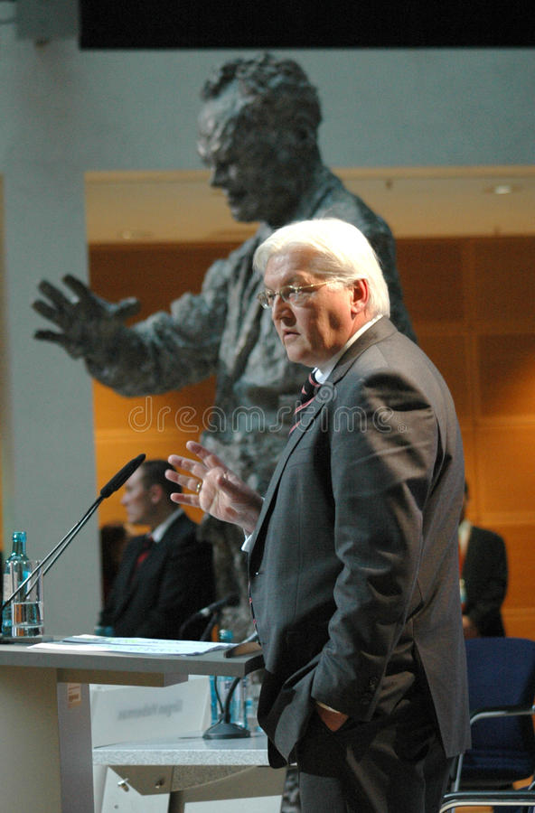 Frank-Walter Steinmeier. NOVEMBER 23, 2007 - BERLIN: Frank-Walter Steinmeier at a discussion panel on philosophy in politics in the Willy-Brandt-Haus, Berlin royalty free stock photography