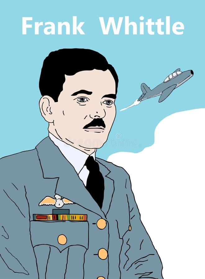 Frank Whittle vector illustratie