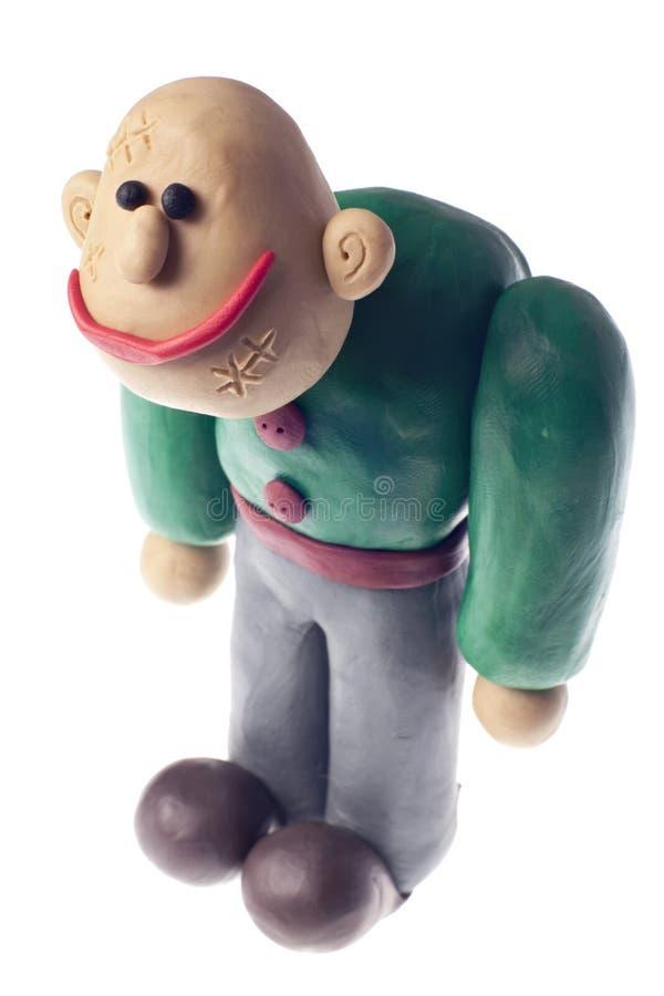 frankenstein滑稽的彩色塑泥 免版税库存照片