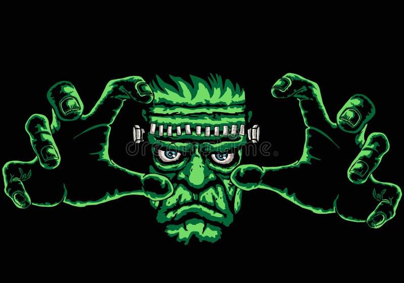Frankenstein illustration stock