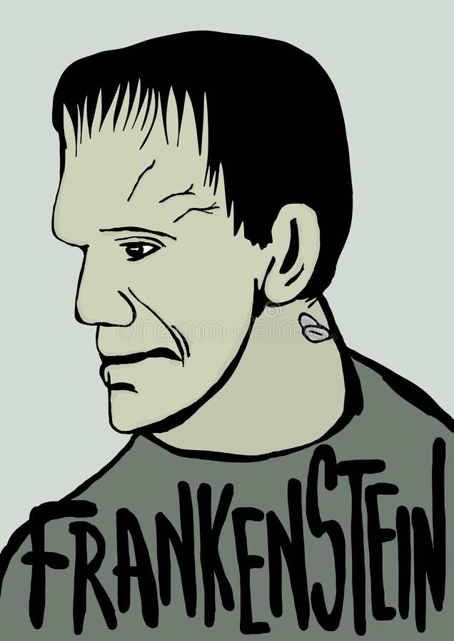 Frankenstein royalty-vrije illustratie
