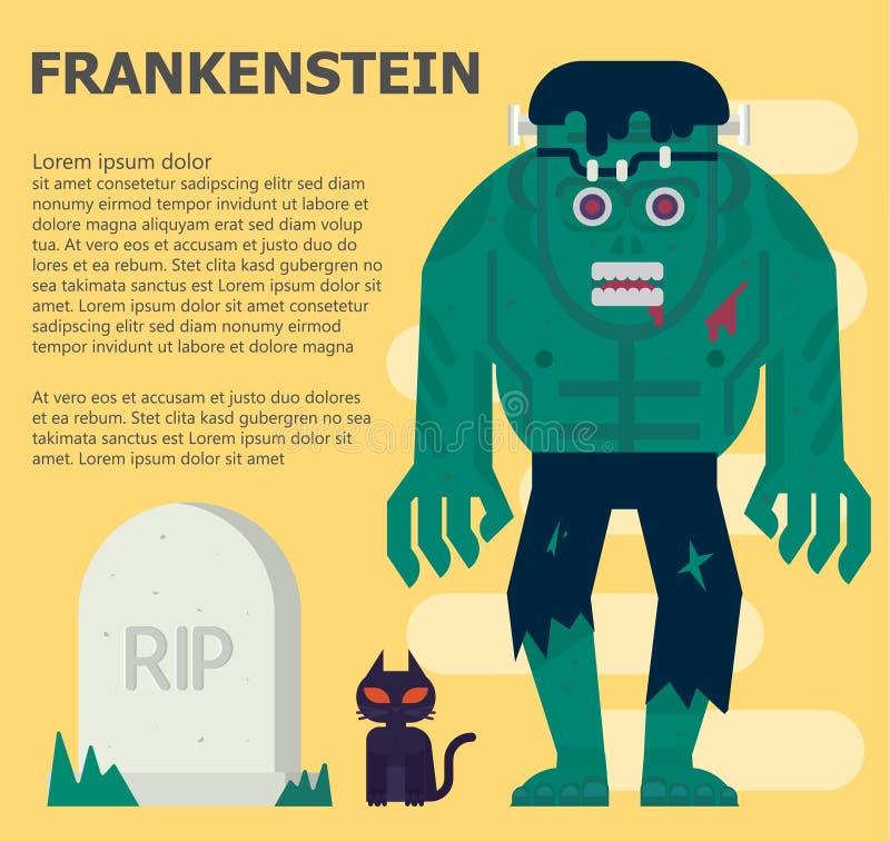 Frankenstein illustration de vecteur