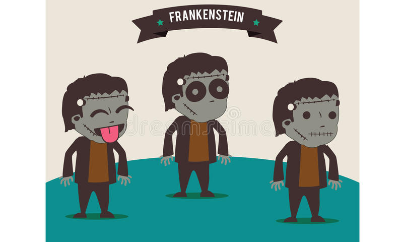 frankenstein royaltyfri illustrationer