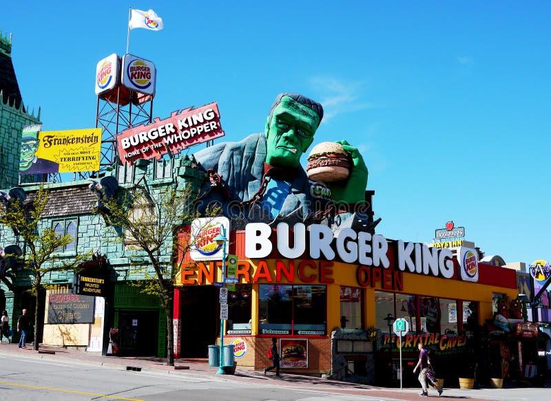 Frankenstein Burger King, Clifton Hill, Niagara-Dalingen royalty-vrije stock foto