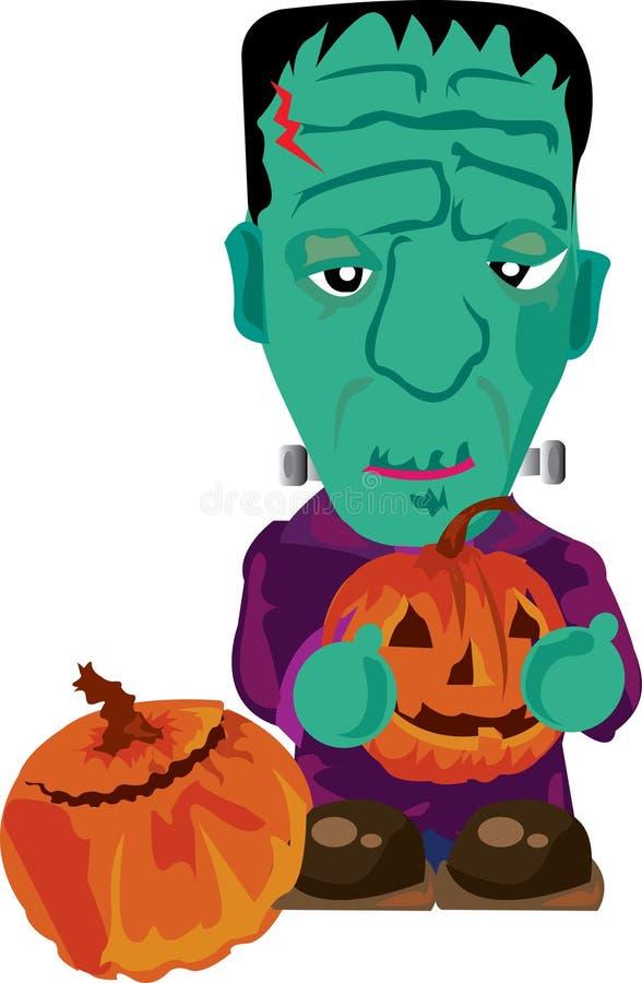 Frankenstein Cute stock illustration