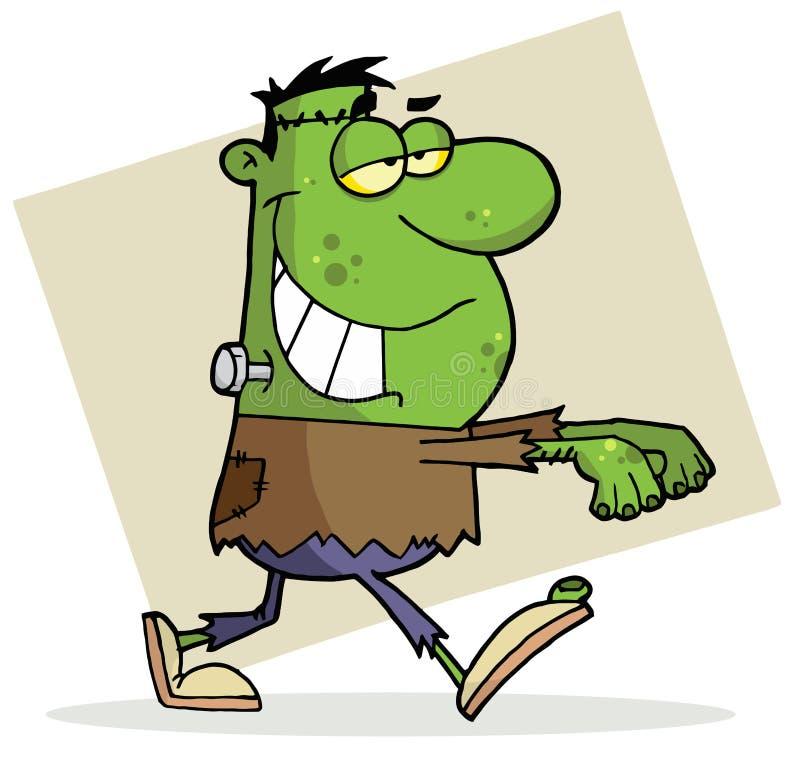 Frankenstein de Halloween do personagem de banda desenhada ilustração royalty free