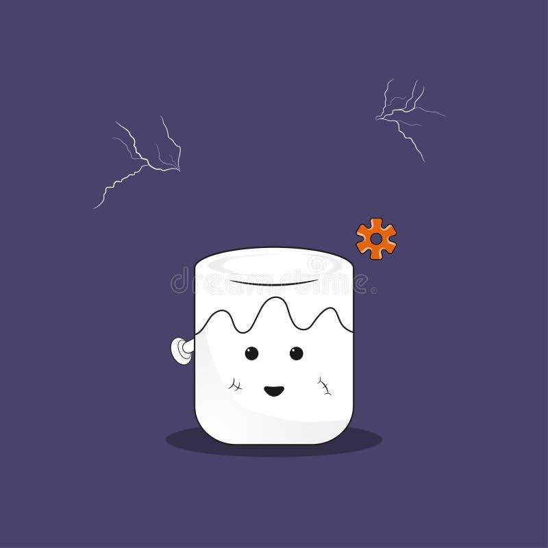 Frankenstein do marshmallow ilustração stock