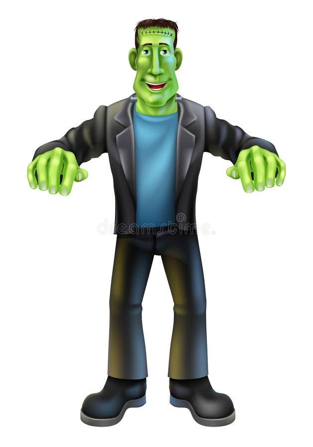 Frankenstein dos desenhos animados de Dia das Bruxas ilustração royalty free
