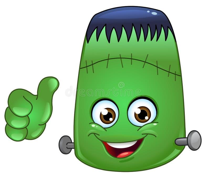 Frankenstein emoticon royalty ilustracja