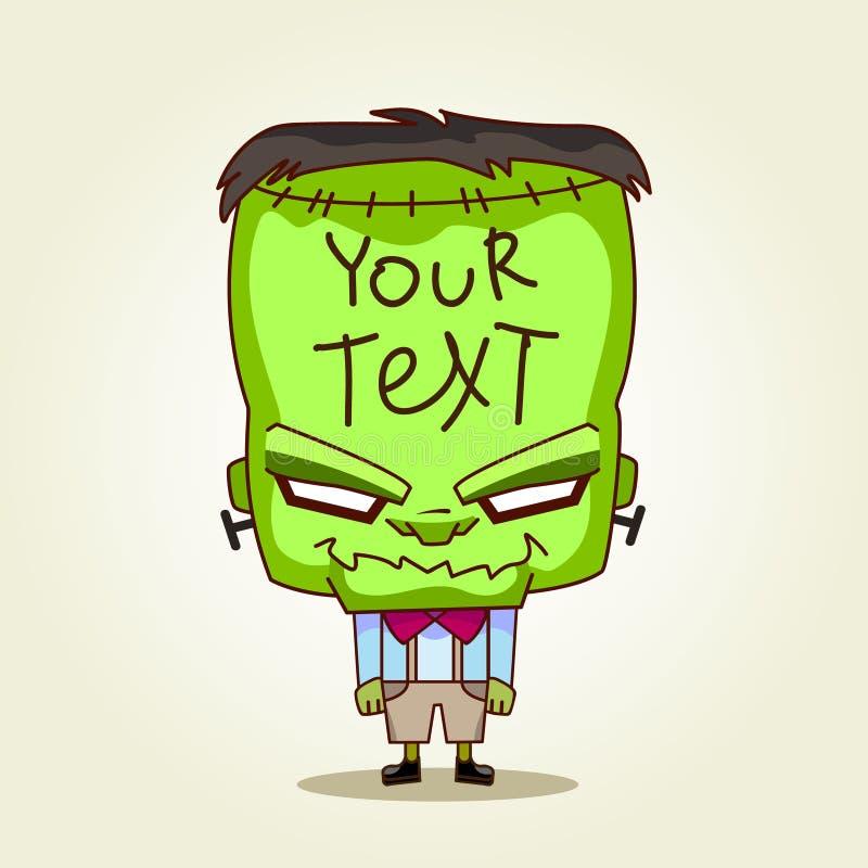 Frankenstein. Halloween-beeldverhaalillustratie voor t stock illustratie