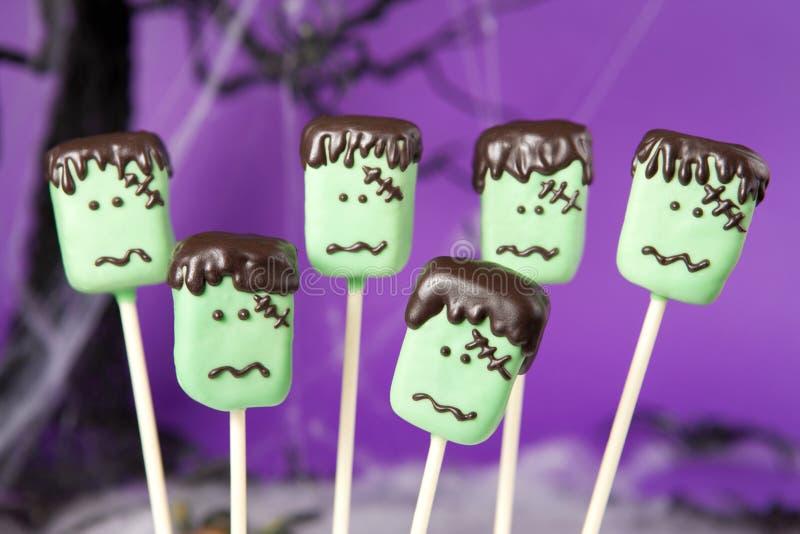 Frankenstein Kuchenknalle lizenzfreies stockfoto