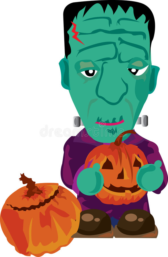 Frankenstein mignon illustration stock