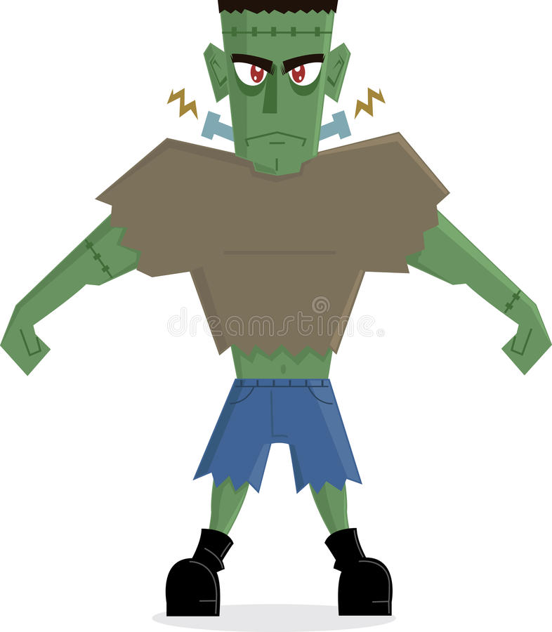 Frankenstein Monster halloween character royalty free stock image