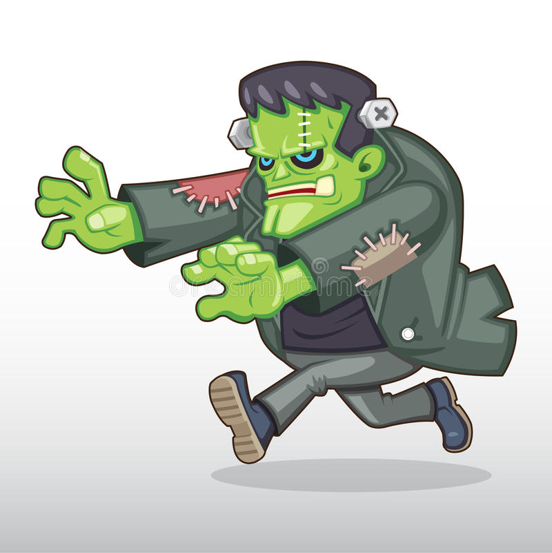 Frankenstein potwora ilustracja fotografia royalty free