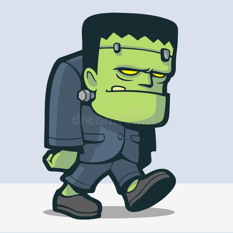 Frankenstein tecknad film vektor illustrationer