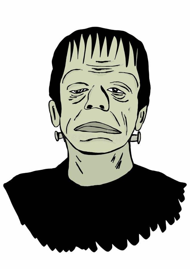 Frankensteinpictogram stock illustratie