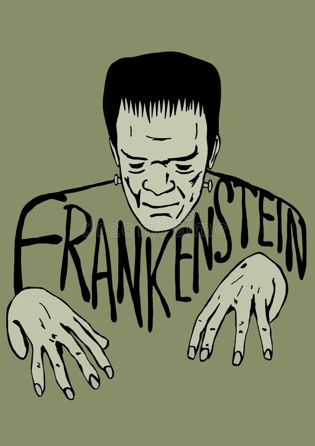 Frankensteinschets stock illustratie