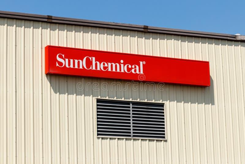 Frankfort - τον Αύγουστο του 2018 Circa: Εργοστάσιο χημικής βιομηχανίας ήλιων Η χημική ουσία ήλιων είναι ο μεγαλύτερος παραγωγός  στοκ φωτογραφίες με δικαίωμα ελεύθερης χρήσης