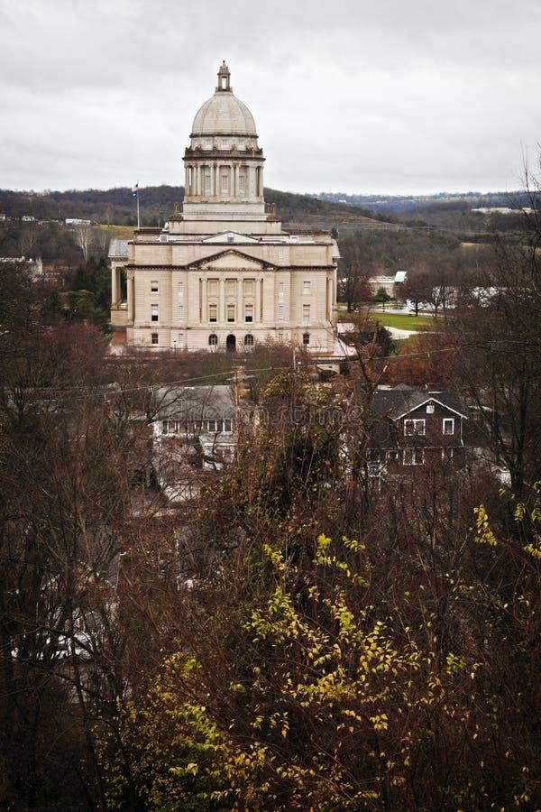Frankfort, Kentucky - construction de capitol d'état photographie stock libre de droits