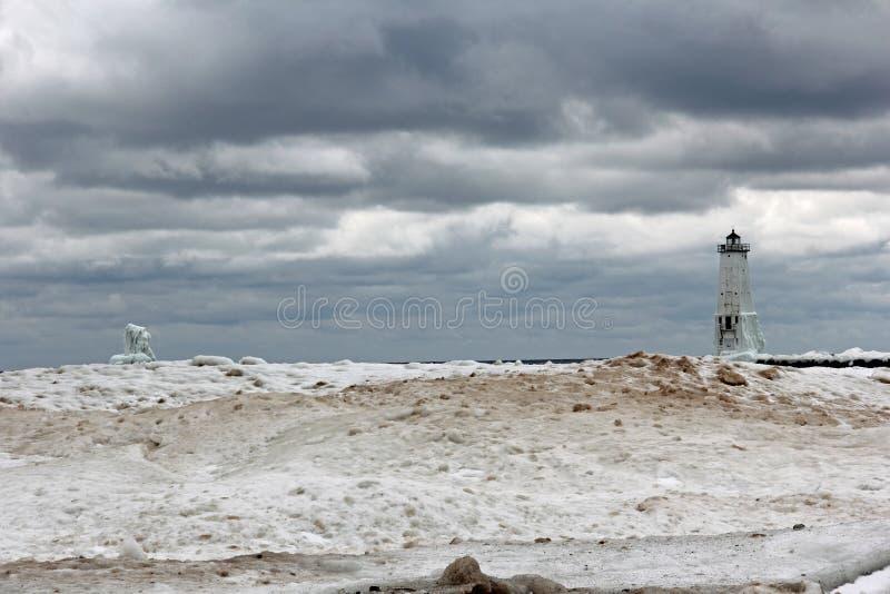 Frankfort latarnia morska fotografia stock