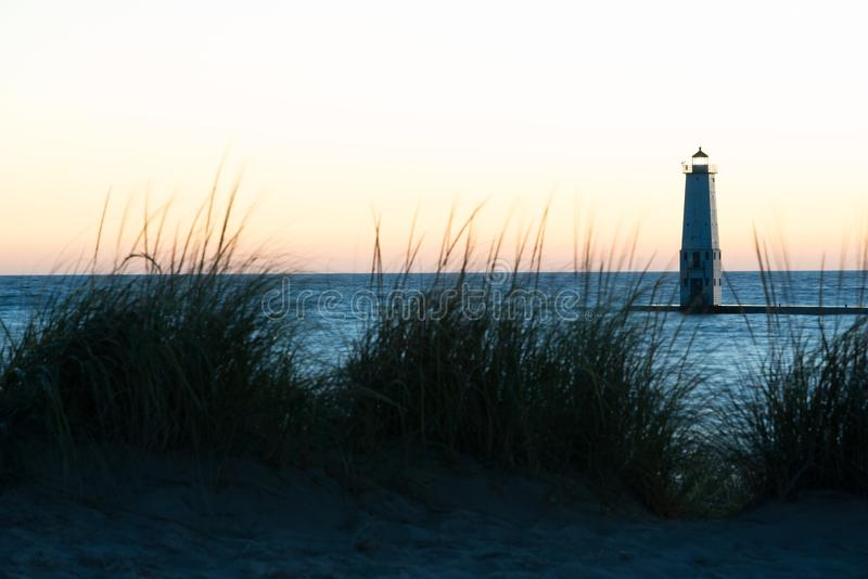 Frankfort latarnia morska Michigan zdjęcia royalty free