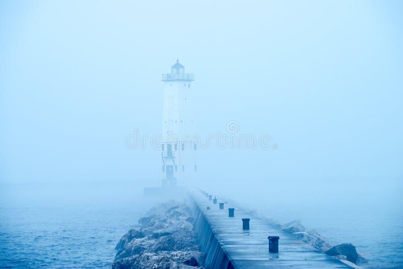 Frankfort latarnia morska, Michigan obraz stock