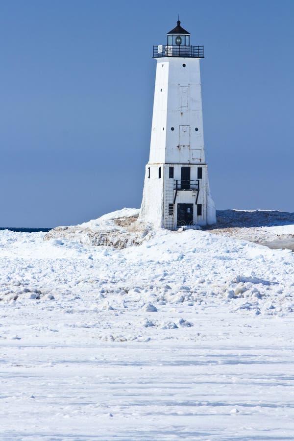 Frankfort latarnia morska w lodzie zdjęcia stock