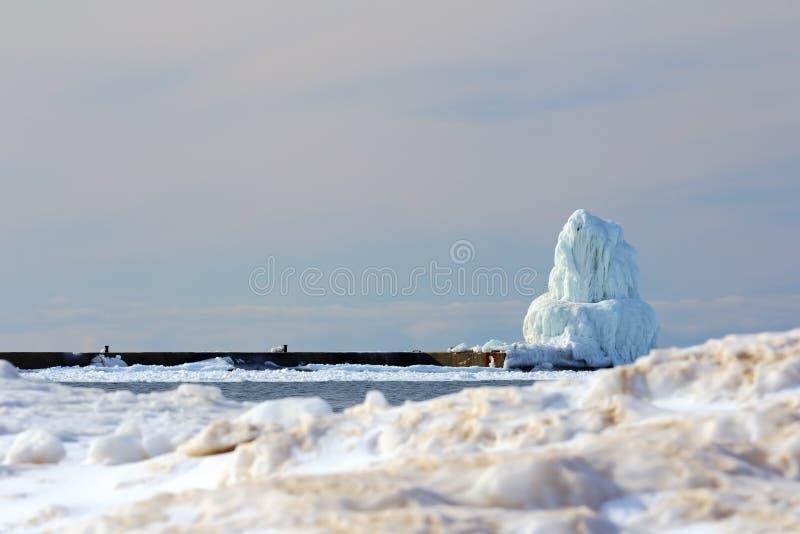 Frankfort latarnia morska w lodzie obrazy stock