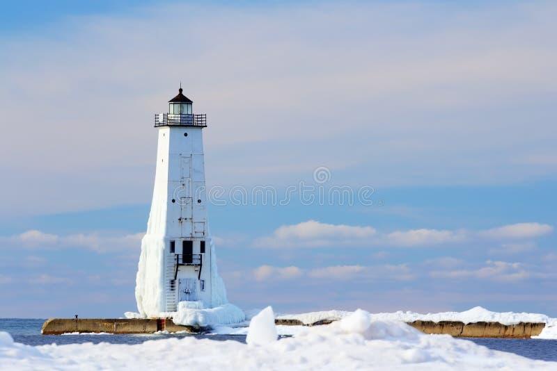 Frankfort latarnia morska w lodzie zdjęcie royalty free