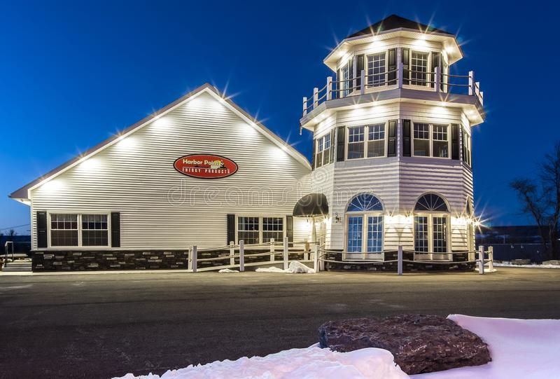 Frankfort, NY - MARCH 03, 2018: Harbor Point Energy Products is a local upstate New York Company, provides reliable 24-hour delive. Ry of high quality, heating royalty free stock photography
