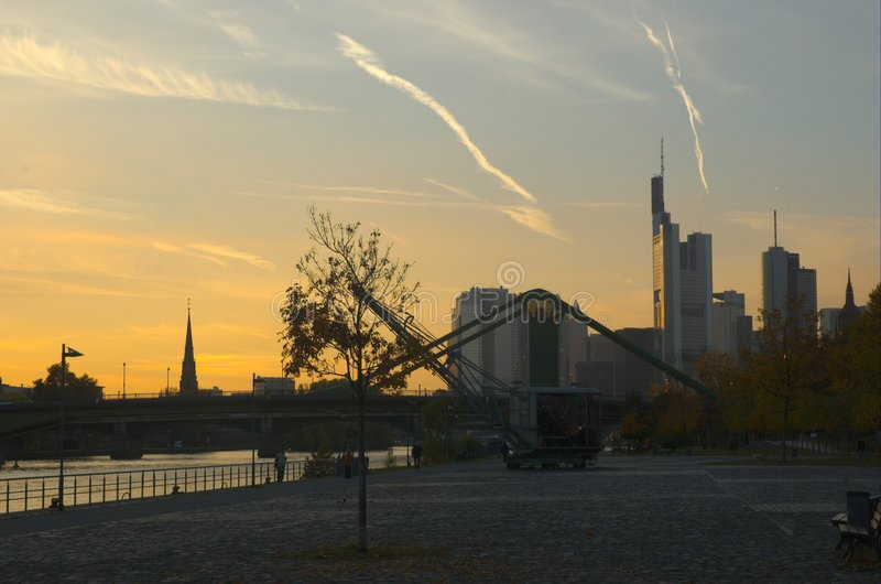 frankfurt панорамный стоковая фотография