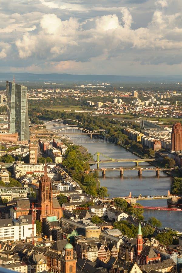 Frankfurt from above royalty free stock photos