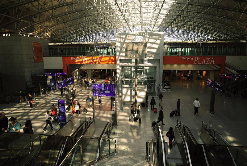 Frankfurt International Airport terminal royalty free stock photo