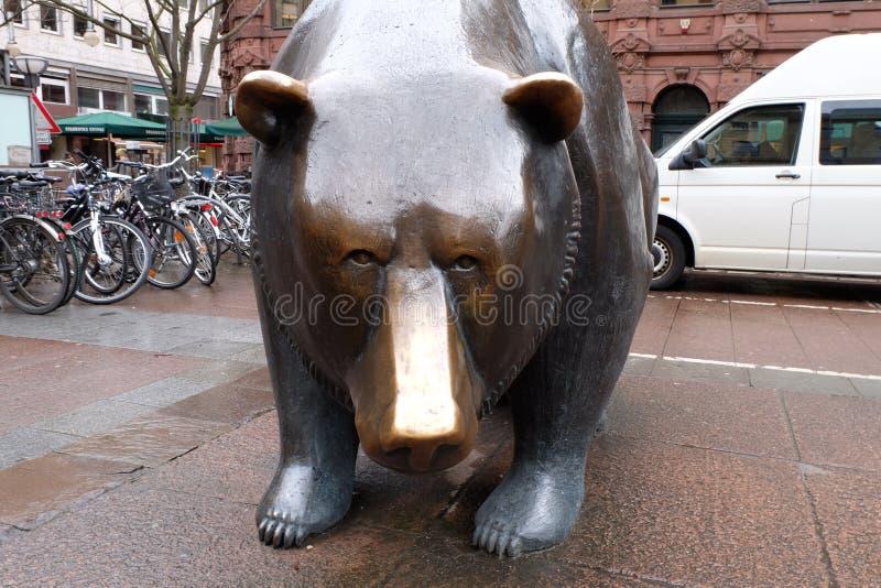 Frankfurt Börse rynek papierów wartościowych niedźwiedź fotografia royalty free
