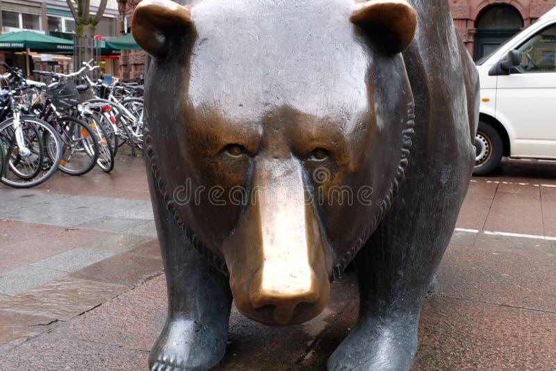 Frankfurt Börse rynek papier?w warto?ciowych nied?wied? obraz stock