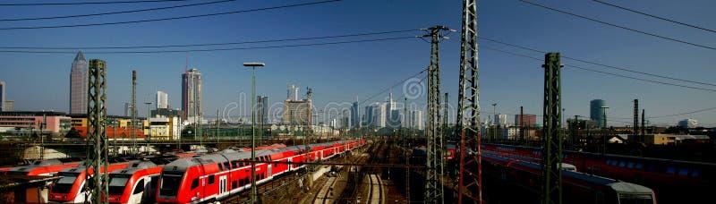 Frankfurt-Bahnstation stockbild