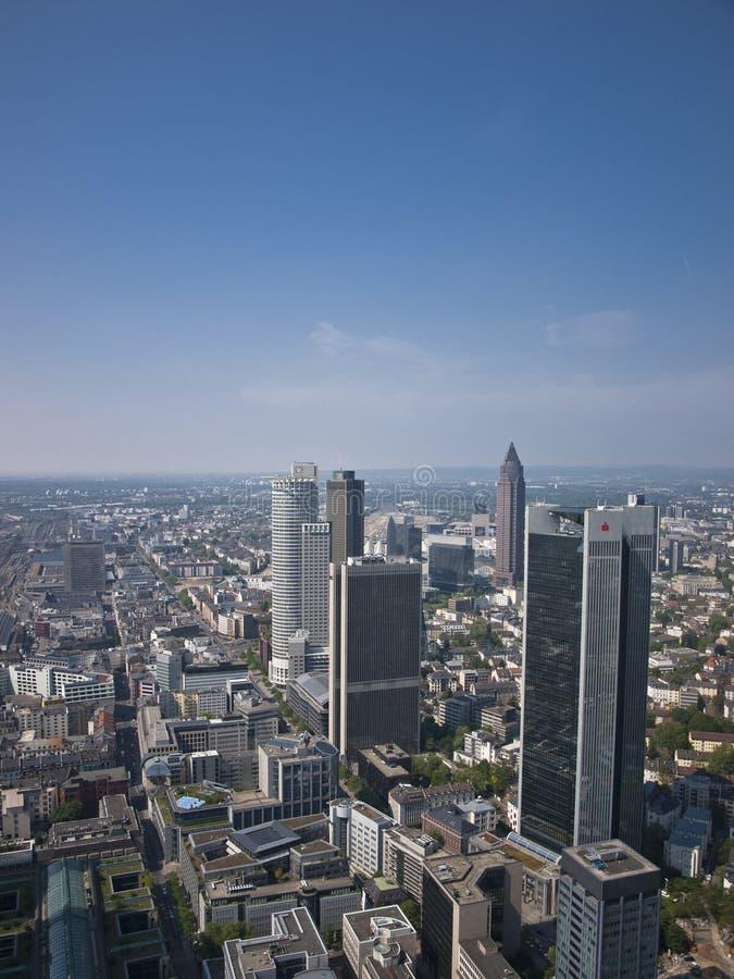 Frankfurt banking district stock photography