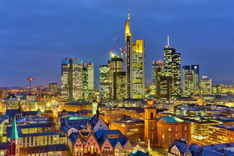 Frankfurt bij nacht